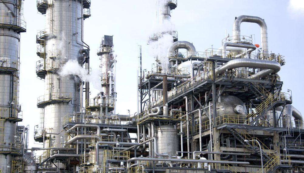 A NNPC Oil rig in Nigeria.
