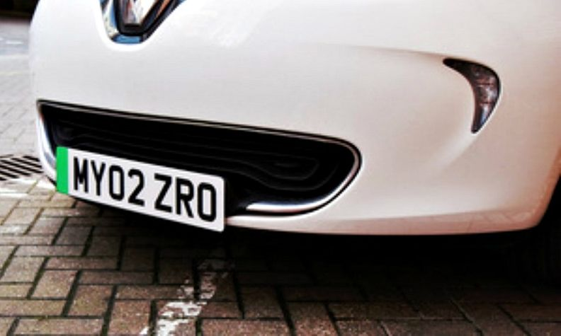 Britain to introduce unique number plate for electric cars.