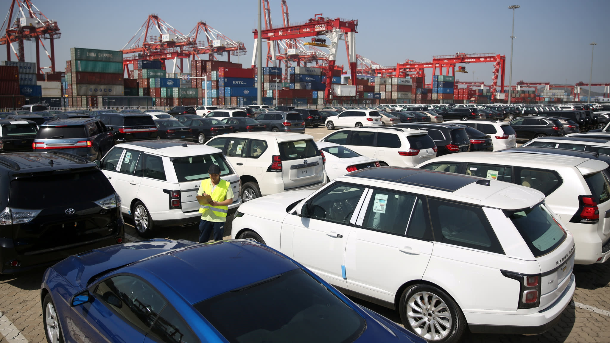 Used cars in China.