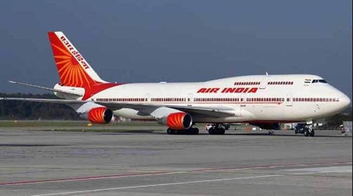 An Air India airplane.