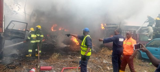 Seized vehicles of traffic violators not affected by fire- LASTMA