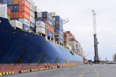 The Container Vessel; Maerskline Stardelhorn vessel.