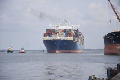 The Container Vessel; Maerskline Stardelhorn vessel