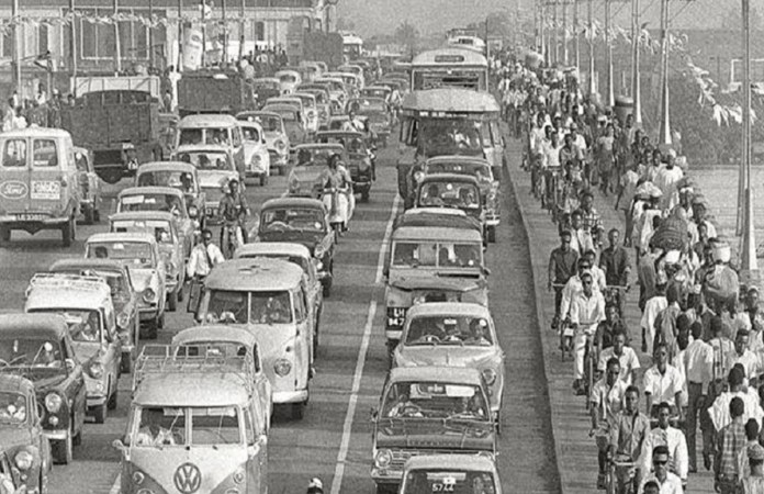 Vehicles in Nigeria using Right-Hand Drive in 1972.