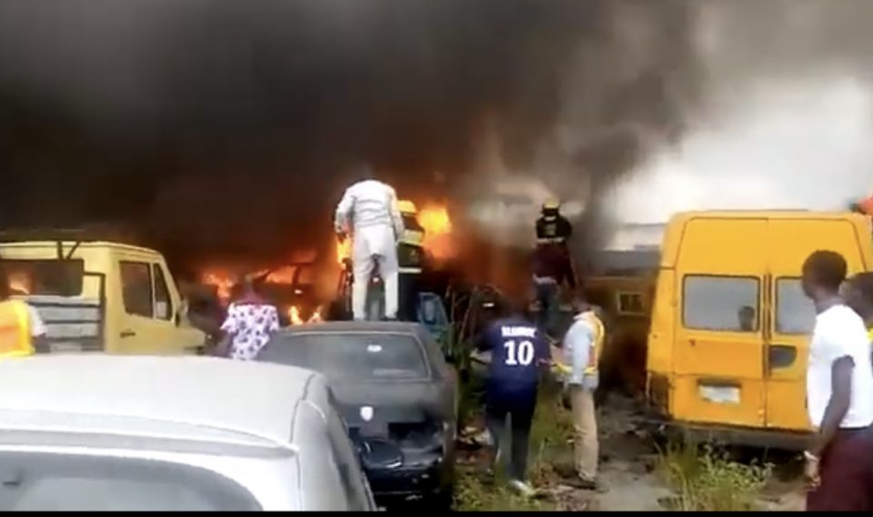 Fire guts section of LASTMA headquarters in Oshodi