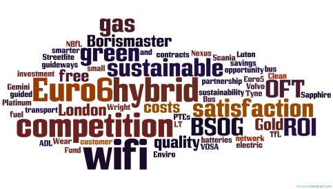 Transportdesigned's bus industry buzz words of 2013, word-cloud style. Version 2. It's a free download, and you're free to use as you wish, although we always appreciate some attribution!