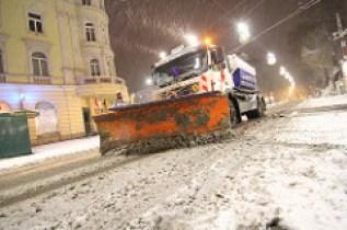 Transporter im Winter