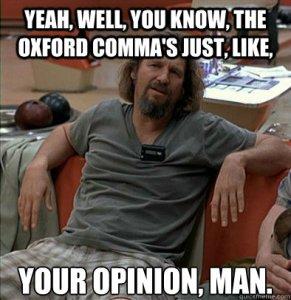 Oxford Comma meme