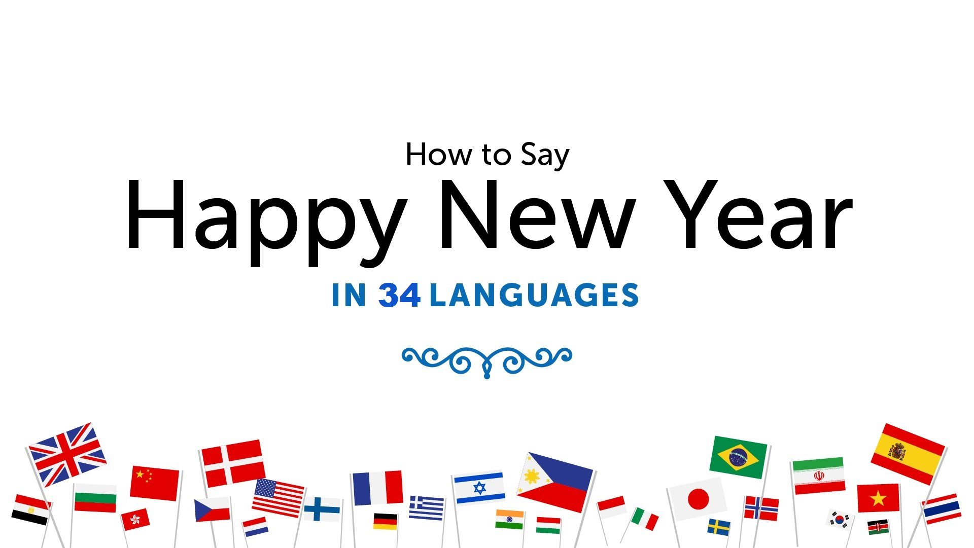 How To Say Happy New Year in 34 Languages