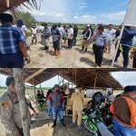Bersama BPN Sat Reskrim Polres Tebing Tinggi Ukur Titik Koordinat Objek Lahan
