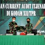 Pangdam XII/Tpr Terima Taklimat Akhir Wasrik Current Audit Itjenad TA 2021