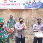 Satgas TMMD 112 Beserta Personil Polres Pakpak Bharat Merayakan Hut TNI
