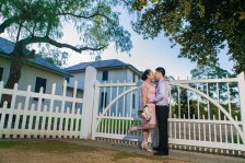 Sydney wedding couple kiss at parramatta old government house