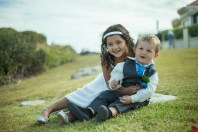 Sydney wedding photography of flowergirl and ringboy