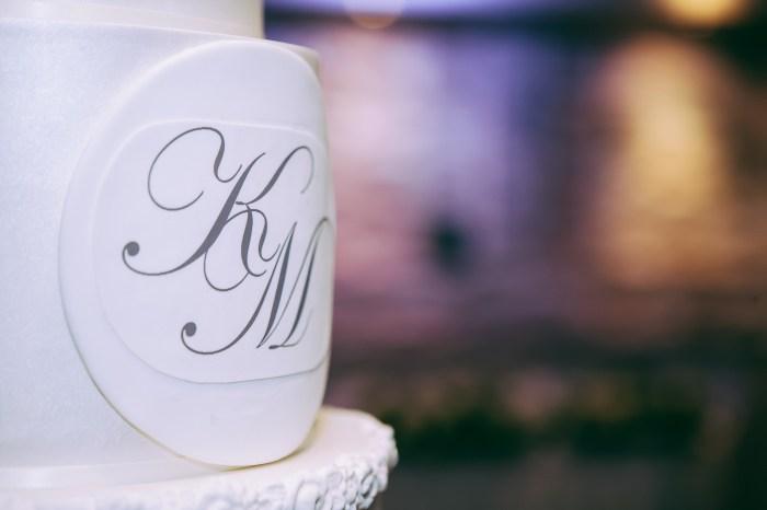 A close up of a Sydney wedding cake