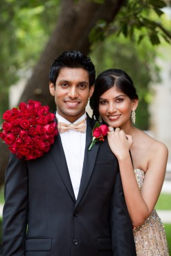 Indian Sydney wedding couple smiling at photographer