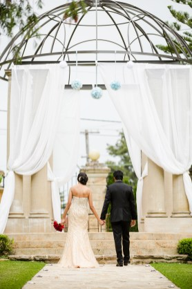 Indian sydney wedding couple walking at curzon hall