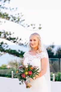 Emma beautiful bride portrait at Wollongong