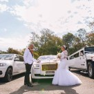 beautiful bride and groom wedding rolls royce phantom photography