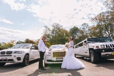 beautiful bride and groom wedding rolls royce phantom photography