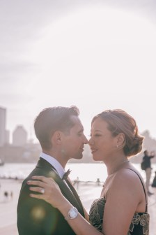 beautiful bride and groom kissing photography