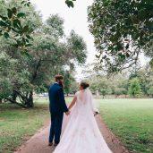 Australian Bride and groom rustic wedding photoshoot