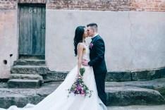 Australian bride and groom at argyle street the rocks sydney_03