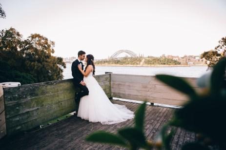 Beautiful Bride & Groom Wedding at Balmain Wharf Sydney