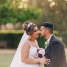 Bride and Groom smiling at Bicentennial Park Homebush Sydney_05