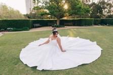 Beautiful Egyptian bride sitting at Bicentennial Park Homebush Sydney_03