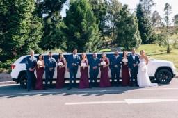 bridal party at mount annan