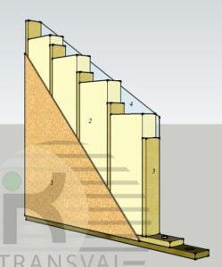Peretele exterior pentru case din lemn
