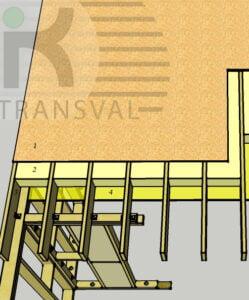 Planseul unei case din lemn