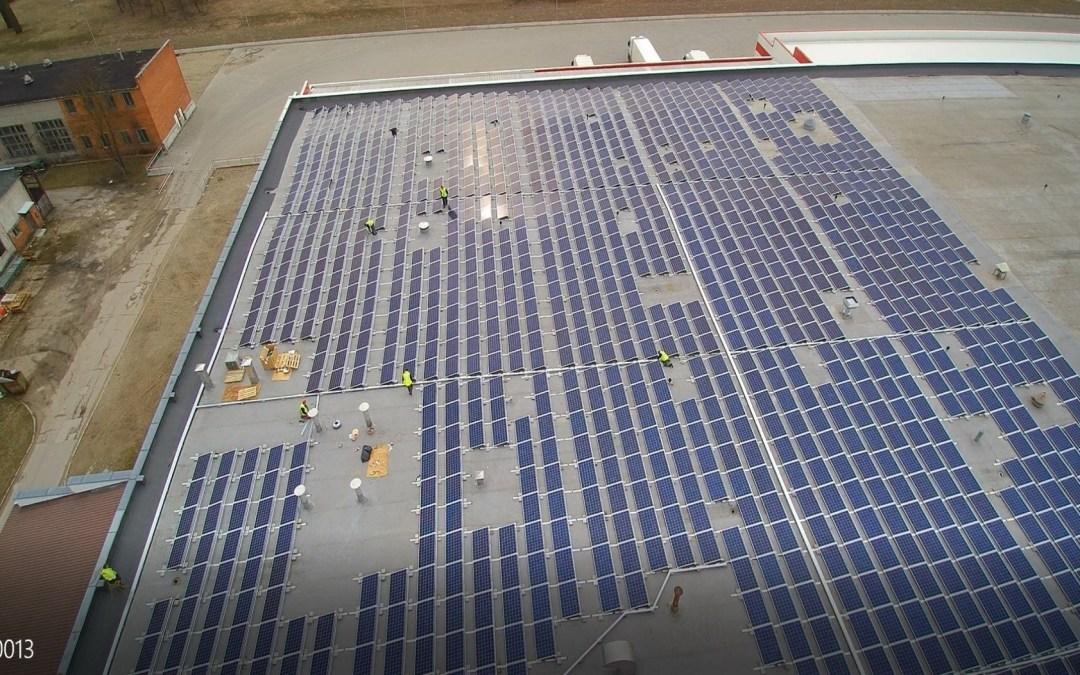 437 kW saulės elektrinė Utenoje