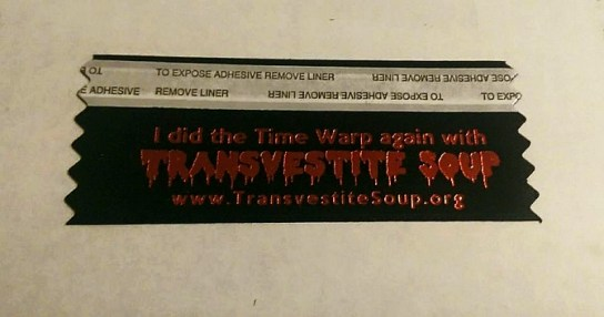 Transvestite Soup Badge Ribbon