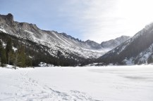 This was my first time hiking a snowy mountain
