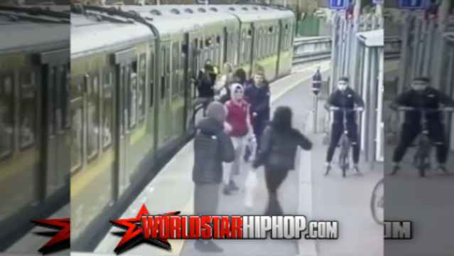 WATCH: Group Of Teens Acting Tough Towards Innocent Civilians In The Subway Leads To A Lady Falling Onto The Train Tracks!