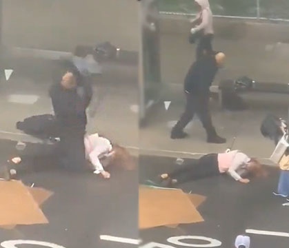 WATCH: Just Wild: Jealous Husband Beats Wife To Death With Crowbar In Broad Daylight In NYC!