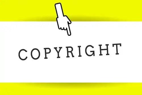 Conceptual hand writing showing Copyright. Business photo showca