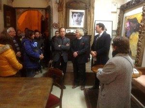 1b inaugurazione con il vicesindaco Francesco Italia e il gallerista Claudio Fayer 2