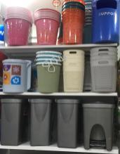 Plastic Trash Can--