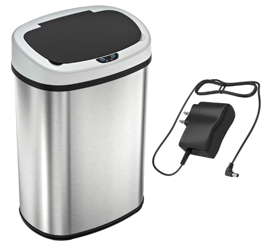 automatic kitchen trash can