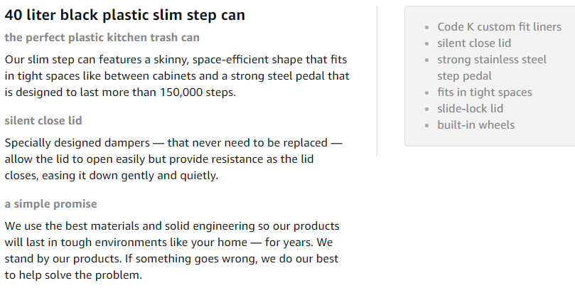 simplehuman 40l slim step can