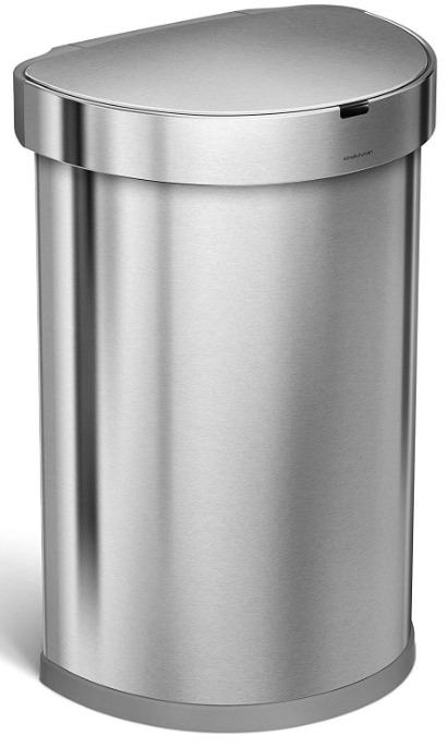simplehuman semi-round step trash can 45l