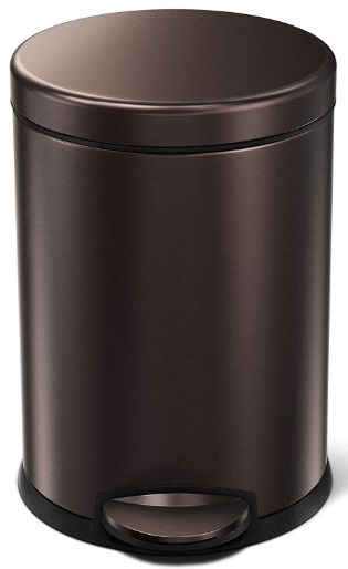 simplehuman semi-round step trash can