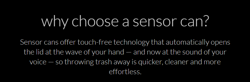 simplehuman sensor trash can