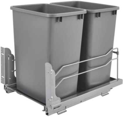 pull out kitchen trash can replacement