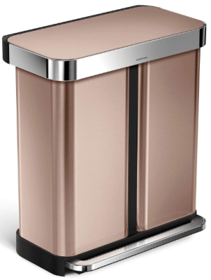 36 simplehuman rose gold garbage can
