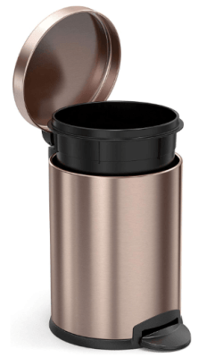 simplehuman rose gold trash can