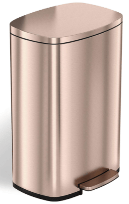 rose gold kitchen trash can